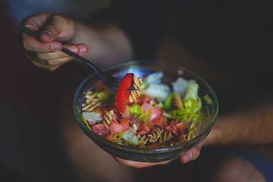 Zdravá dieta: ovoce, zelenina, bílé maso, těstoviny atd.